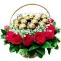 Ferraro roses basket
