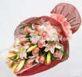 Pink lilly Roses Hand bouquets