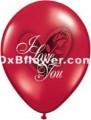 I Love u Baloons