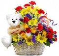 Joyfull arrangement with teddy