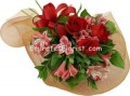 Roses-alstroemeria bouquets