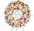 Mixture flower wreath