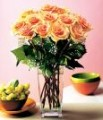 Orange roses with Vase - Inter Flora Specials