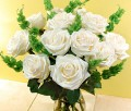 Dozen White Rose Bouquets