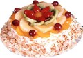 Mixed Fresh Fruits Cake